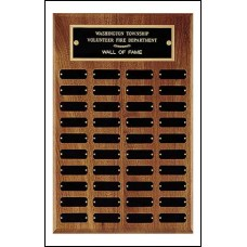P15 Perpetual Plaque with 40 Black Brass Plates